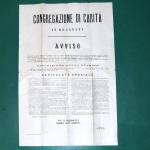 L'avviso della messa all'asta del convento dopo la soppressione napoleonica